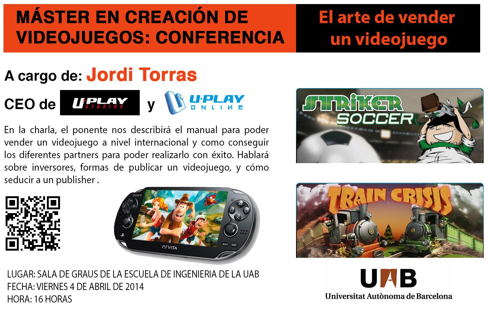 """Charla """"El arte de vender un videojuego"""" a cargo de Jordi Torras en la UAB"""