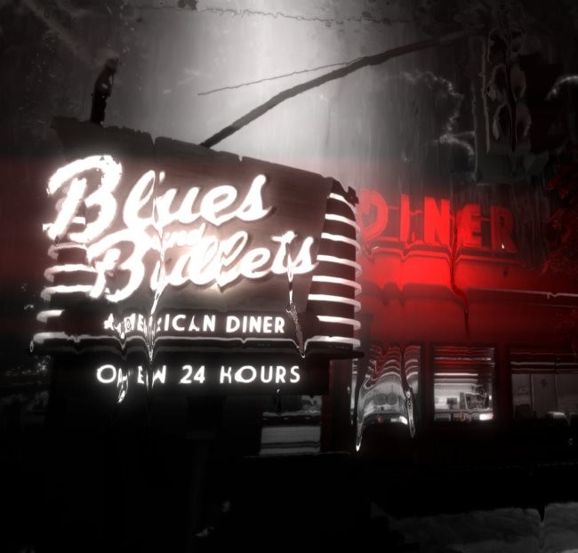 Blues and Bullets cafetería