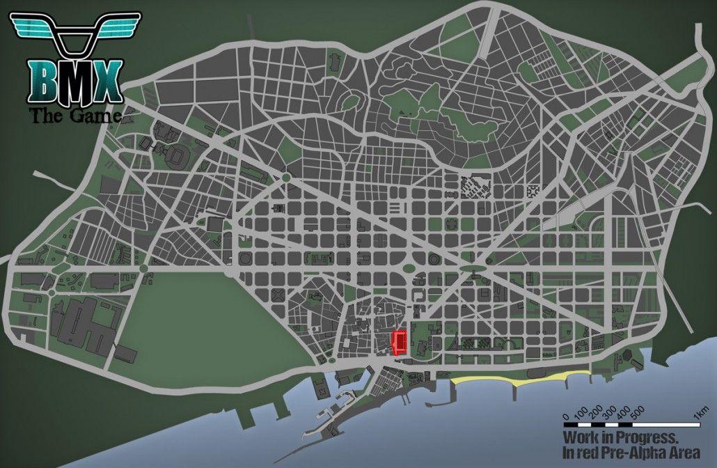 Mapa BMX The Game