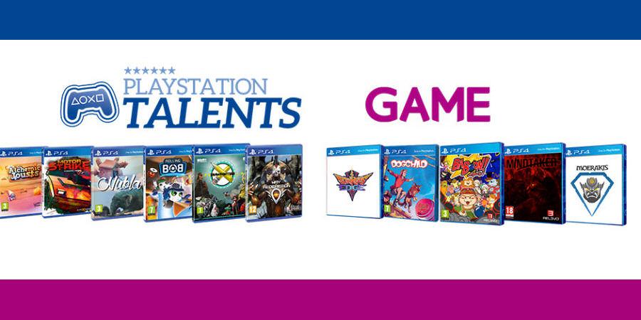 GAME venderá en formato físico los juegos de PlayStation Talents