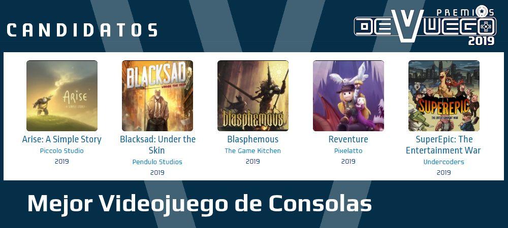 Premios Devuego 2019 Mejor juego consolas