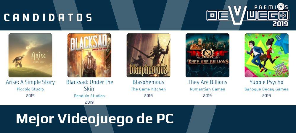 Premios Devuego 2019 mejor juego PC