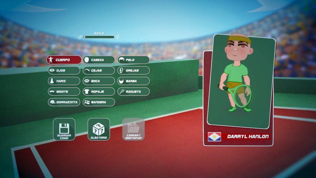 Super Sports Blast editor de personajes