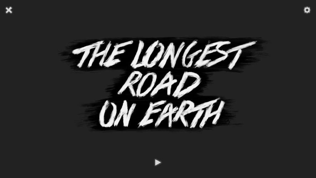 Pantalla principal de The Longest Road on Earth
