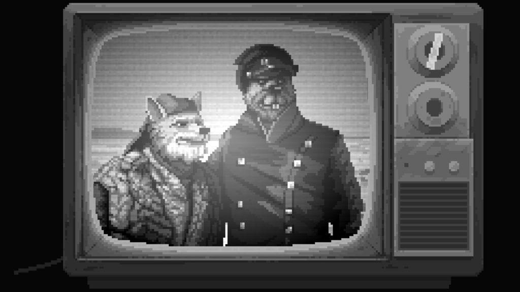 Dersu Uzala pixelado y con protagonistas animales animales