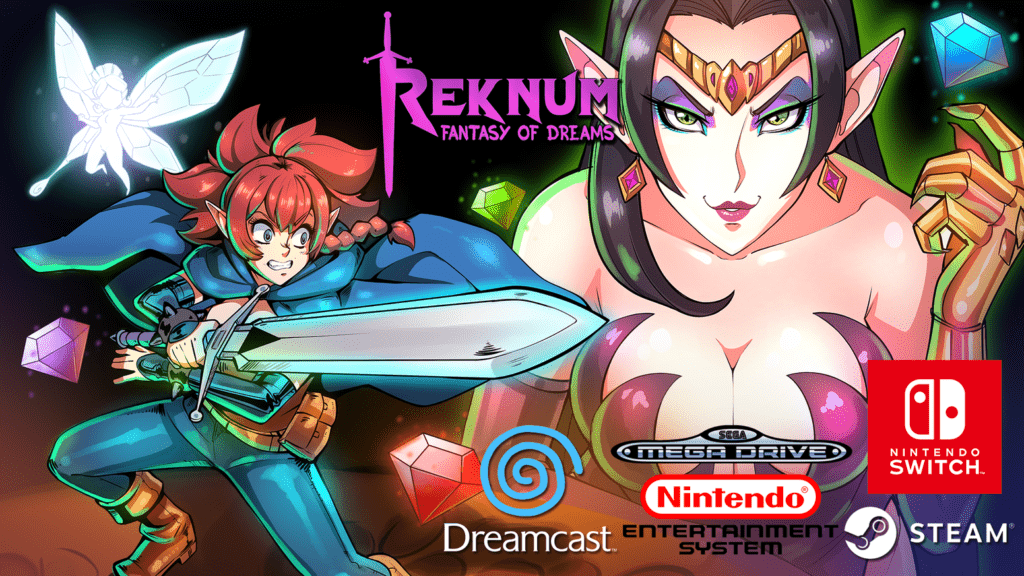 Face the fears from your dreams to save the kingdom in this 2D retro metroidvania for Nintendo Switch, NES, Mega Drive & Dreamcast!